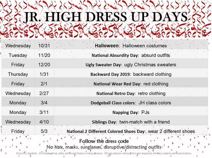 JH Dress up days