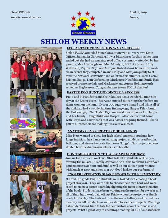 Shiloh Newsletter