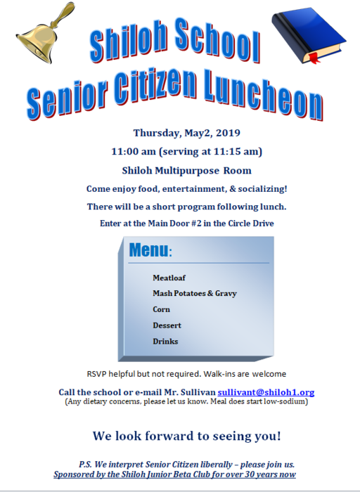 Senior Citizen Luncheon